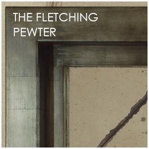 Fletching Pewter Mirror
