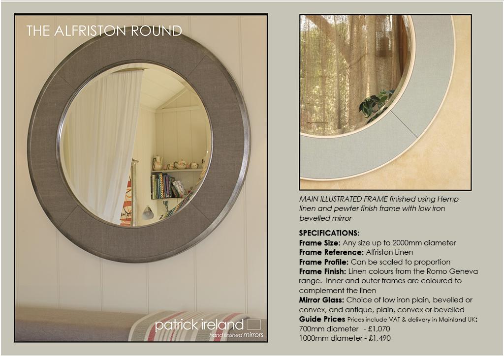 Round Oval And Shaped Mirrors Patrick Ireland Mirrors